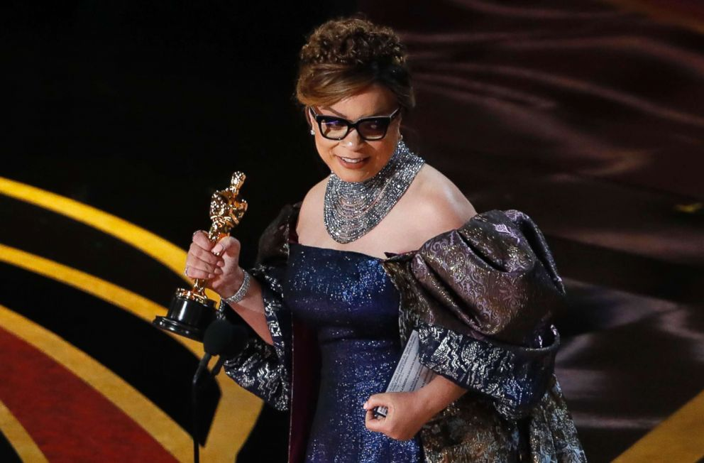 PHOTO: Ruth E. Carter accepts the Best Costume Design award for Black Panther at the Oscars in Los Angeles, Feb. 24, 2019.