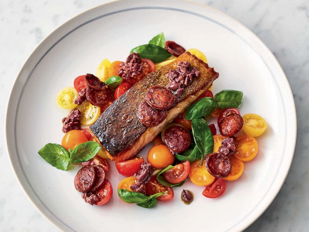 PHOTO: Jamie Oliver shares a recipe from his new cookbook for smoky chorizo salmon.