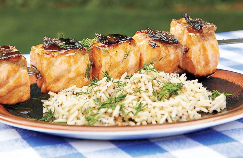 PHOTO: Pomegranate glazed salmon is a perfectly pink main course for any Valentines Day dinner.