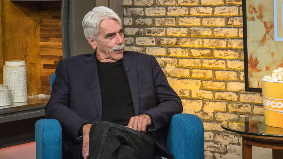 """Sam Elliott appears on """"Popcorn with Peter Travers"""" at ABC News studios, Oct. 4, 2018, in New York City."""