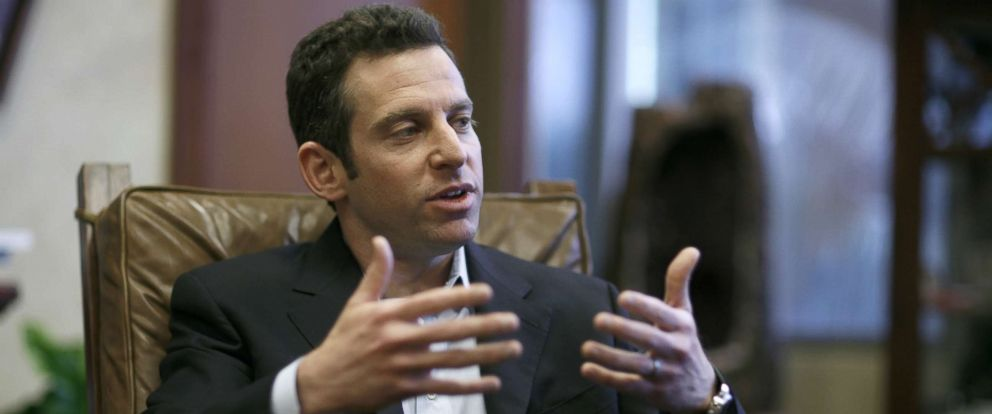 """PHOTO: Sam Harris, well known atheist and author of the book """"End of Faith"""" joins Preacher and Evangelist Rick Warren and Newsweek editor Jon Meachum, March 21 2007 in a group discussion on religion and faith."""