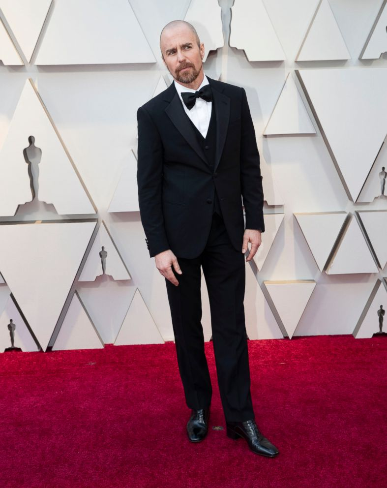 PHOTO: Sam Rockwell arrives for the Oscars, Feb. 24, 2019, in Los Angeles.