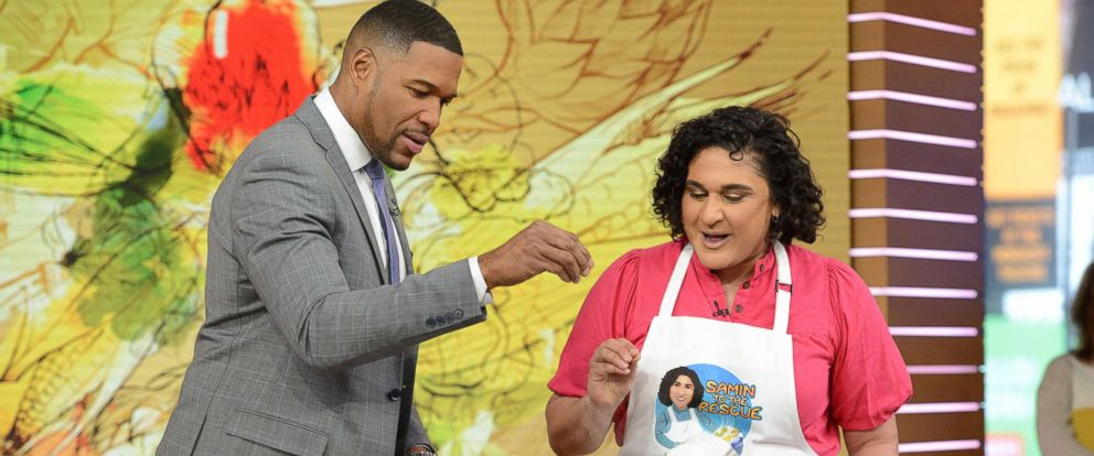 "PHOTO: ""Salt Fat Acid Heat"" author and Netflix star Samin Nosrat explains the importance of fat and heat to making great food on ""Good Morning America,"" Feb. 19, 2019."