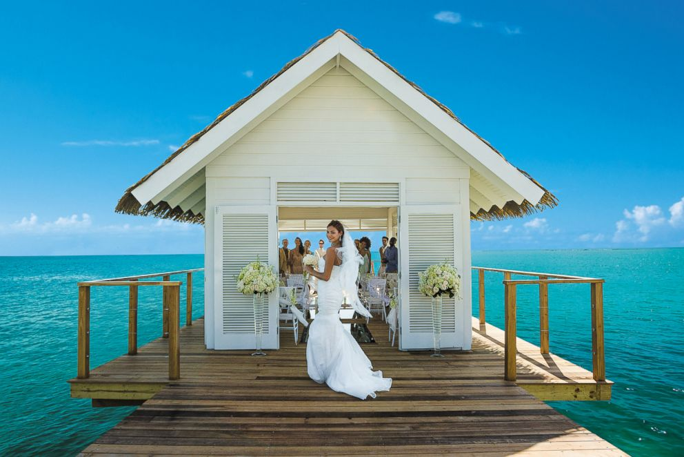 Sandals South Coast in Jamaica features an over-the-water wedding chapel.