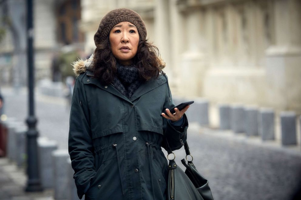 PHOTO: Sandra Oh, as Eve Polastri, in a scene from Killing Eve.