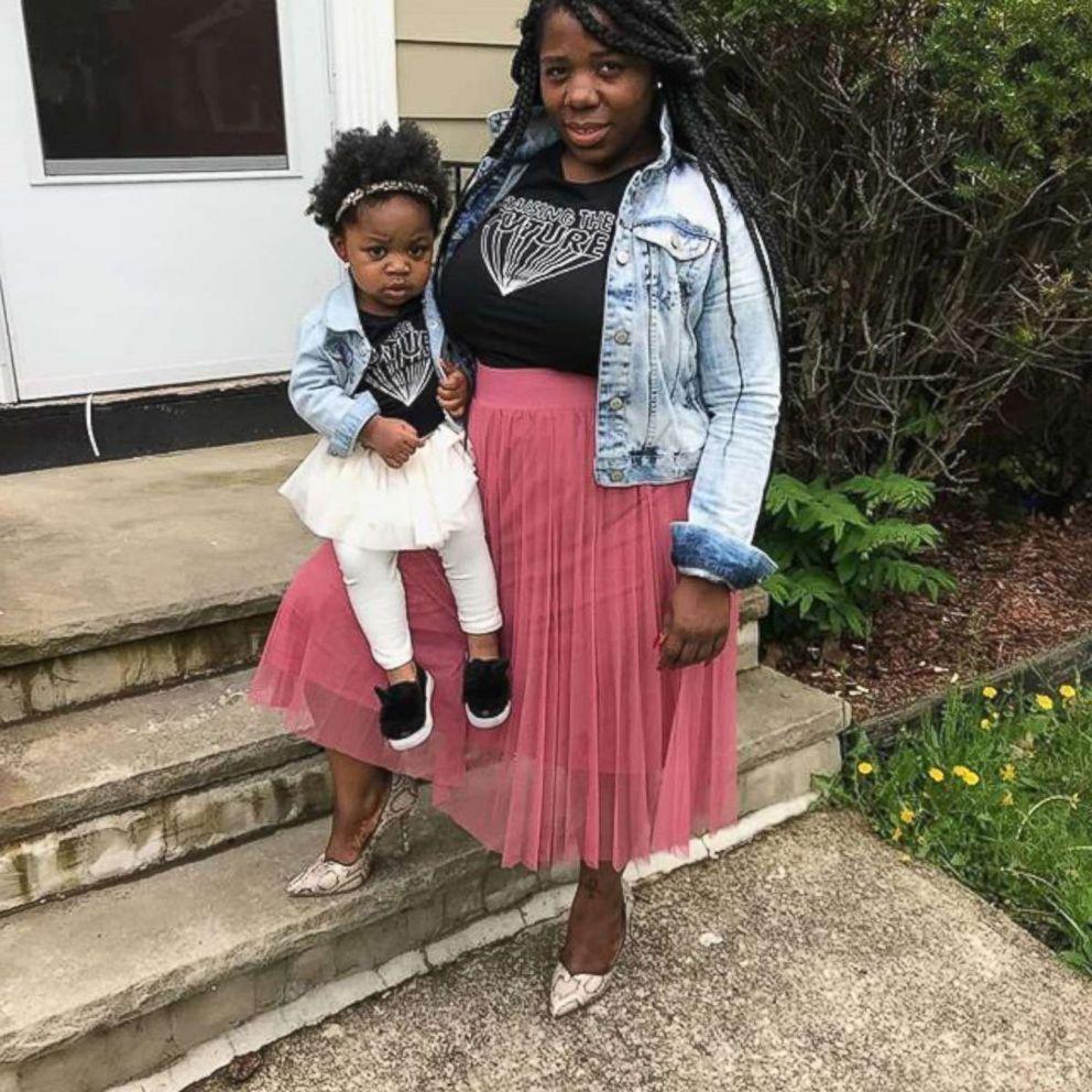 PHOTO: Sasha Bonner, of Charlotte, North Carolina, poses with her daughter Riley Johnson.