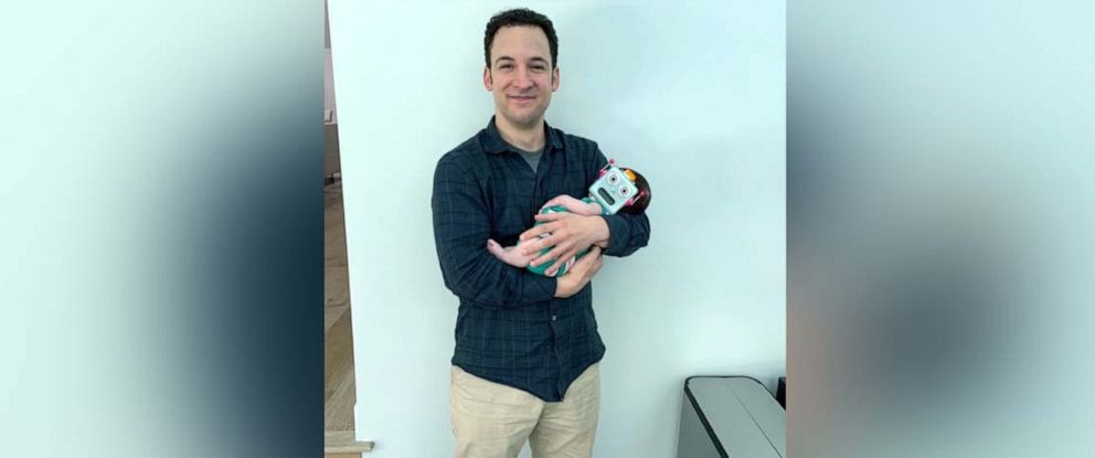 """PHOTO: Danielle Fishel Karp posted this photo of Ben Savage to her Instagram account with the caption, """"The original Boy came to meet our boy."""""""