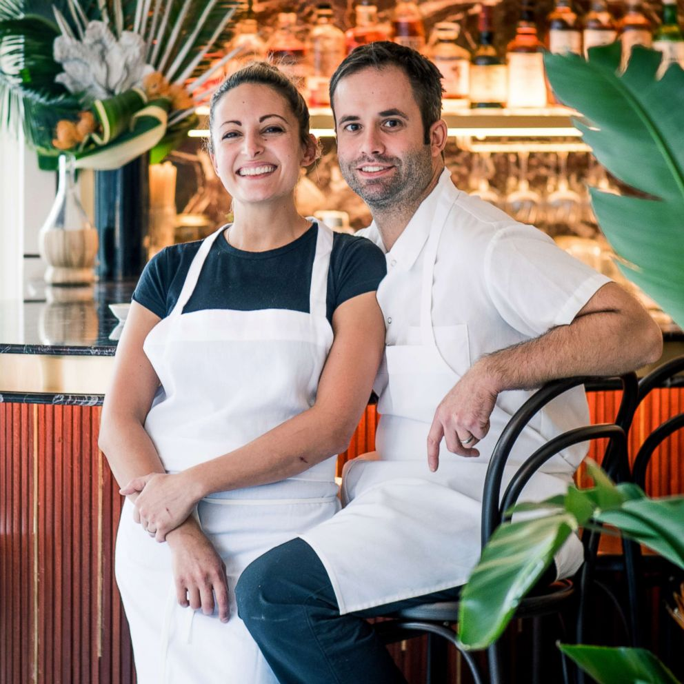 PHOTO: Angie Rito and Scott Tacinelli in their restaurant, Don Angie.