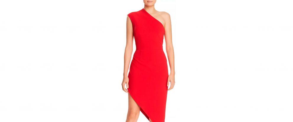 PHOTO: One-Shoulder Scuba-Crepe Dress