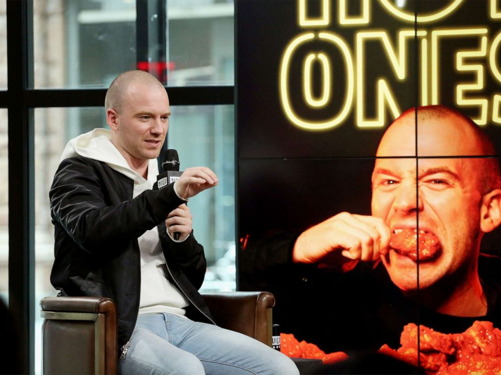 PHOTO: Sean Evans visits Build to discuss Hot Ones on June 8, 2017, in New York City.