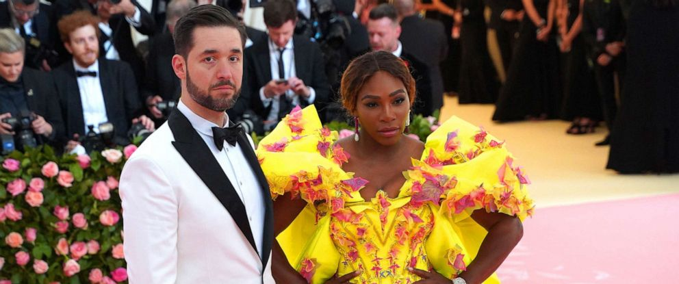 """PHOTO: Alexis Ohanian and Serena Williams attends The Metropolitan Museum Of Arts 2019 Costume Institute Benefit """"Camp: Notes On Fashion"""" at Metropolitan Museum of Art, May 6, 2019, in New York City."""