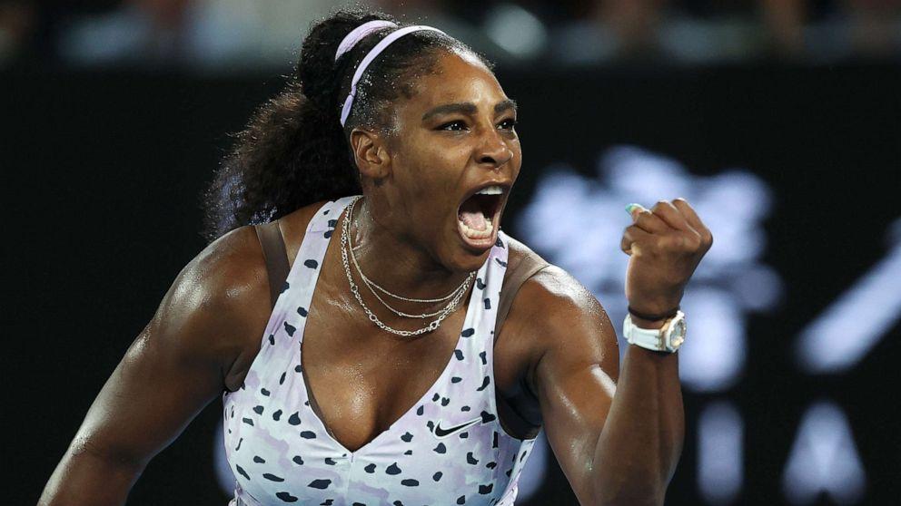 Serena Williams shows off tribute to koalas through her nail art during Australian Open