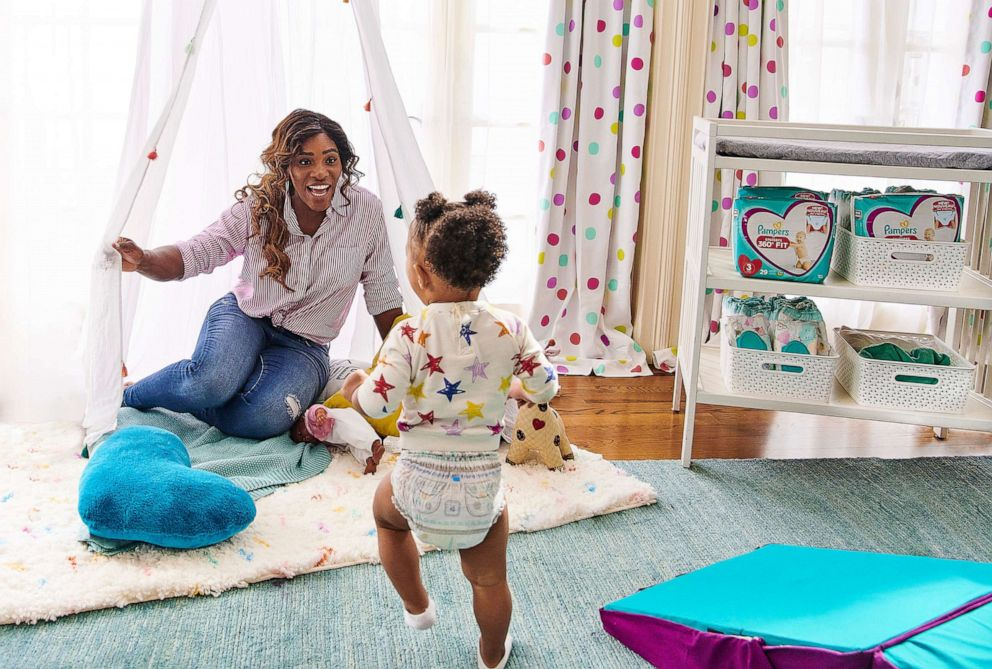 PHOTO: Serena Williams, the mother of Alexis Olympia, has partnered with Pampers on its Born to Be Wild campaign.