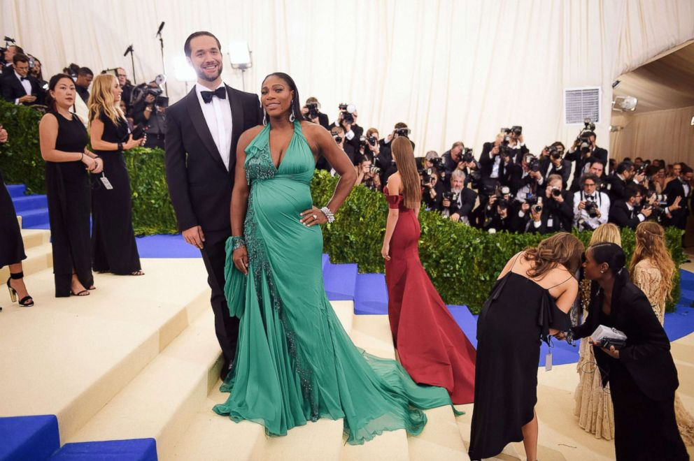 PHOTO: Alexis Ohanian and Serena Williams attend the Costume Institute Gala at Metropolitan Museum of Art on May 1, 2017 in New York.