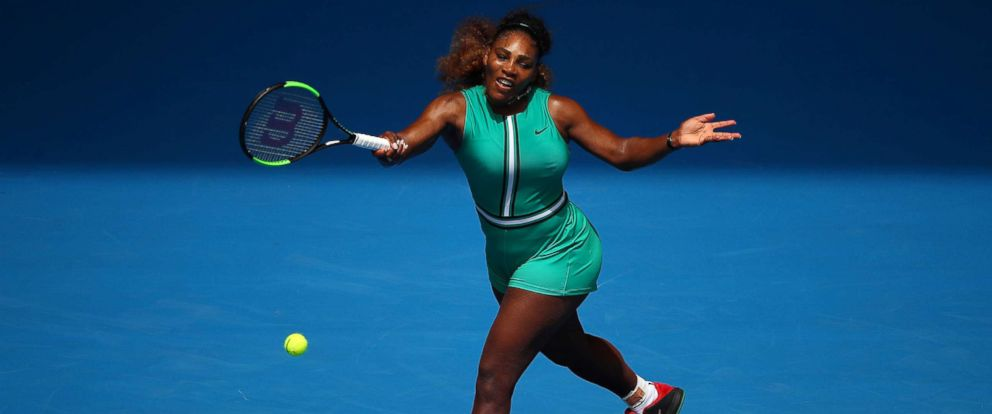 PHOTO: Serena Williams of the United States plays in a first round match against Tatjana Maria of Germany during day two of the 2019 Australian Open at Melbourne Park, Jan. 15, 2019 in Melbourne, Australia.