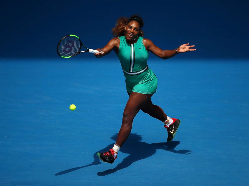 PHOTO: Serena Williams of the U.S. plays during the 2019 Australian Open at Melbourne Park, Jan. 15, 2019 in Melbourne, Australia.