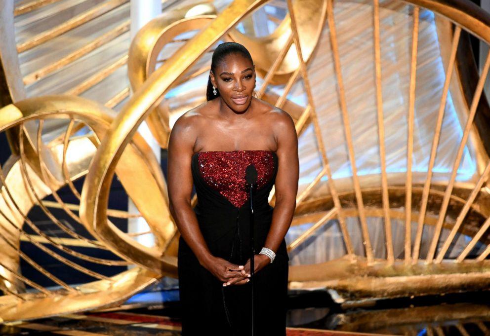PHOTO: Serena Williams speaks onstage during the 91st annual Academy Awards at Dolby Theatre, Feb. 24, 2019, in Hollywood, Calif.