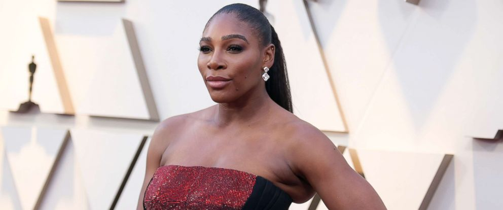 PHOTO: Serena Williams arrives at the Oscars, Feb. 24, 2019, at the Dolby Theatre in Los Angeles.
