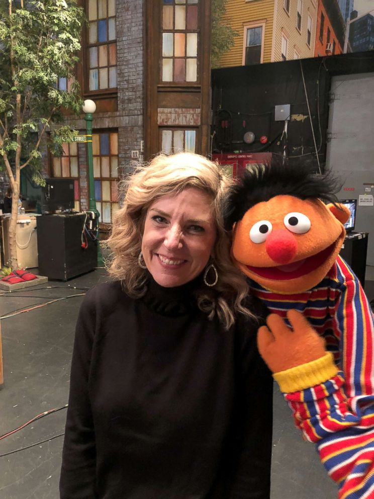 PHOTO: Maddy Cunningham surprised her mother, Heather, with a visit to the Sesame Street set in New York City on Oct. 25, 2018.