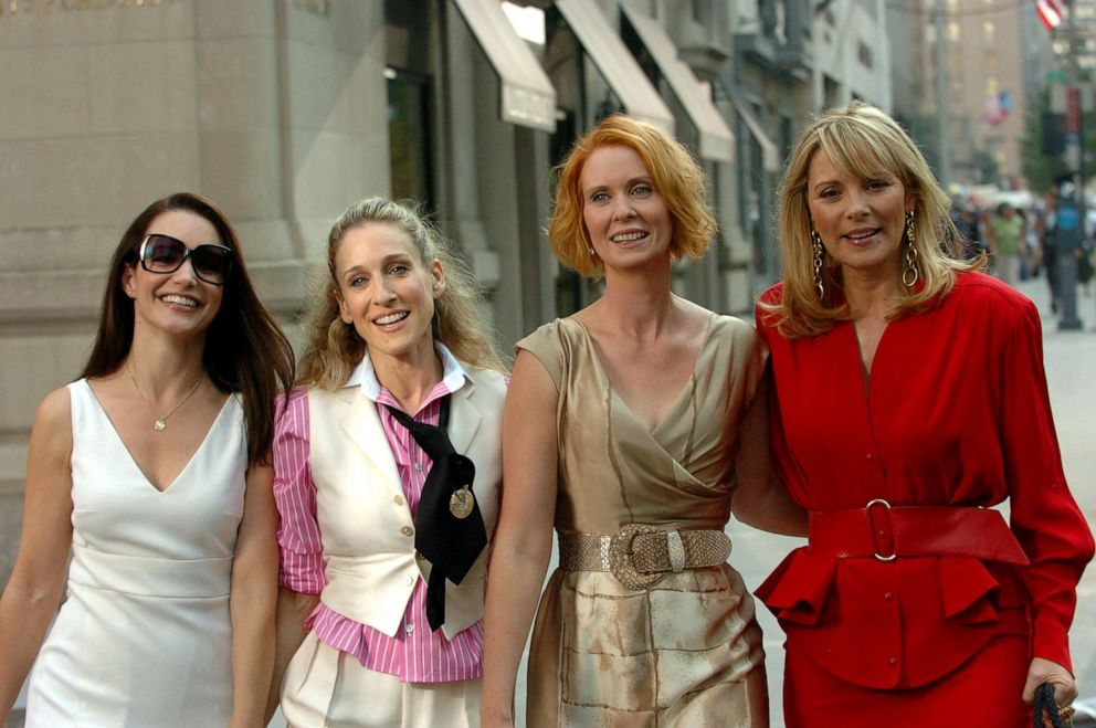 PHOTO: From left; Kirsten Davis, as Charlotte York, Sarah Jessica Parker, as Carrie Bradshaw, Cynthia Nixon, as Miranda Hobbes and Kim Cattrall, as Samantha Jones, star in Sex and the City.