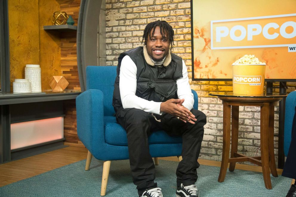 "Shameik Moore appears on ""Popcorn with Peter Travers"" at ABC News studios, Dec. 10, 2018, in New York City."