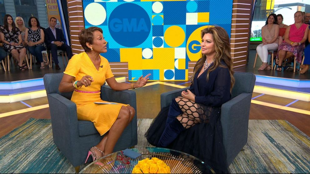 PHOTO: Shania Twain talks to GMAs Robin Roberts on Good Morning America, June 17, 2019.