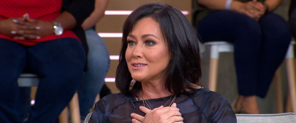 "PHOTO: Actress Shannen Doherty appeared live on ""Good Morning America,"" Sept. 13, 2018."