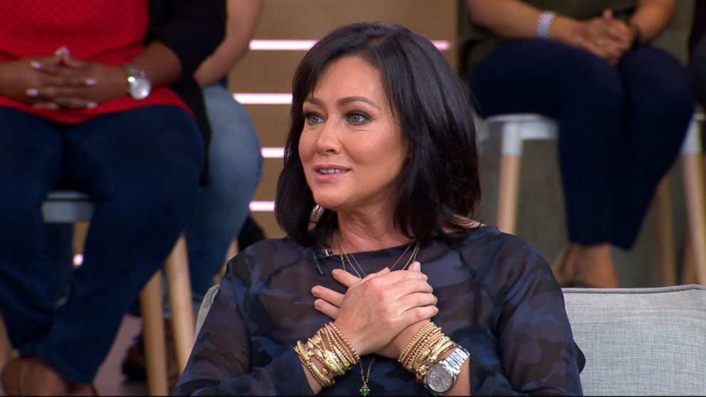 "Actress Shannen Doherty appeared live on ""Good Morning America,"" Sept. 13, 2018."