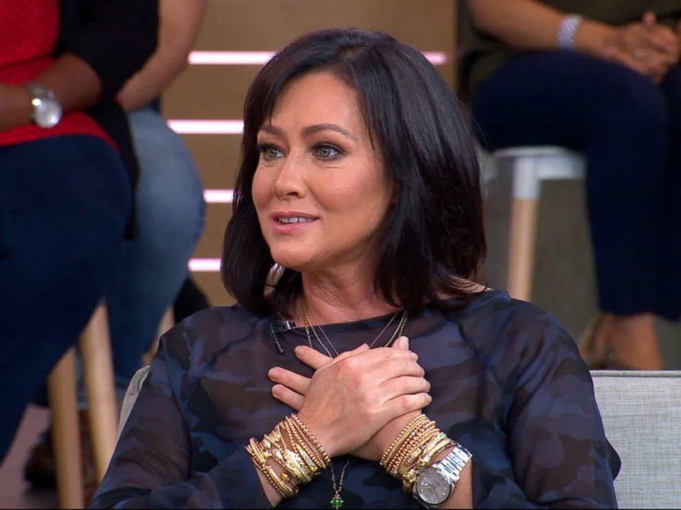 PHOTO: Actress Shannen Doherty appeared live on Good Morning America, Sept. 13, 2018.