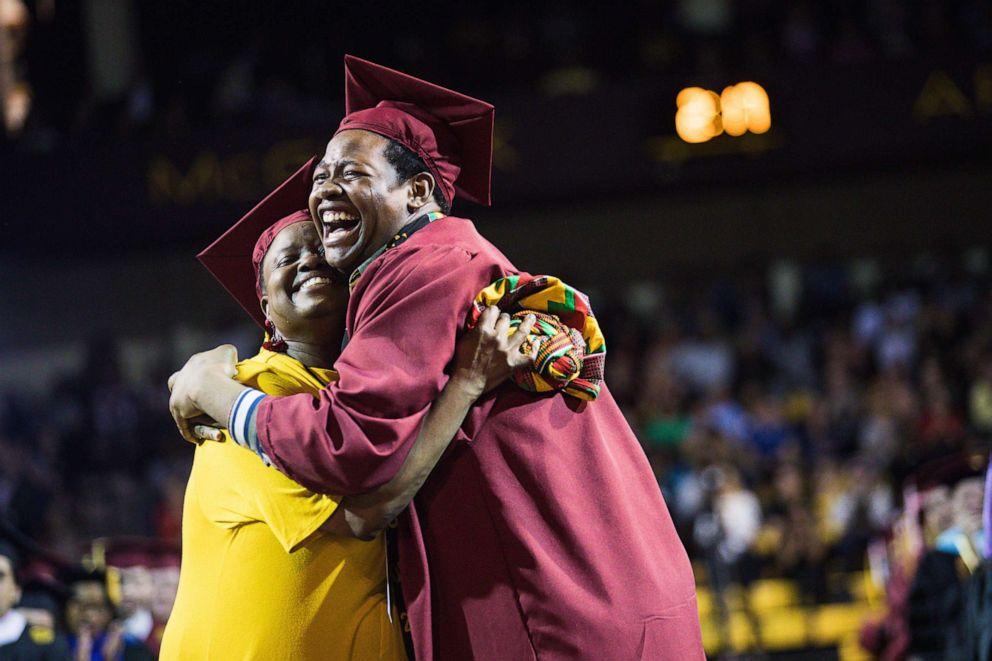 PHOTO: Sharonda Wilson graduated from Ferris State University and Stephan Wilson graduated from Central Michigan University.