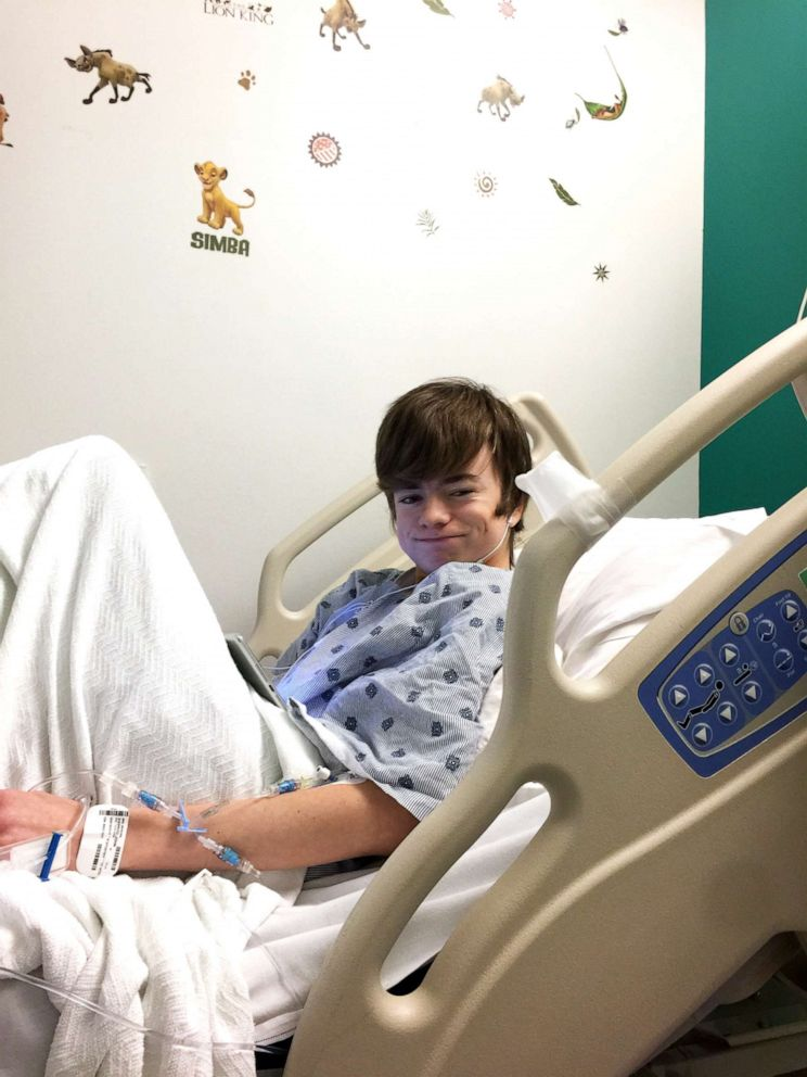PHOTO: John Ben Shepperd, 18, is seen laying in a hospital bed in an undated photo.