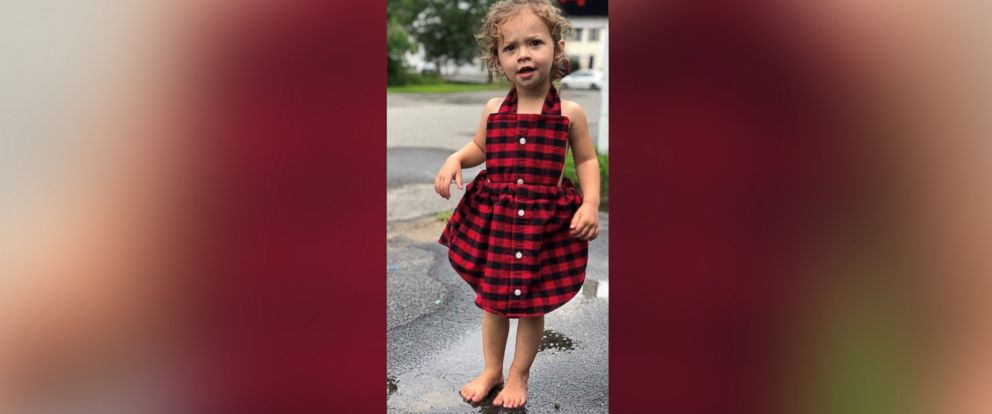 PHOTO: Carli Grant of New Hampshire, launched her business, Refashioned Memories, in July 2018, after making a dress for her daughter Amelia, 2, out of her husbands button-down shirt.