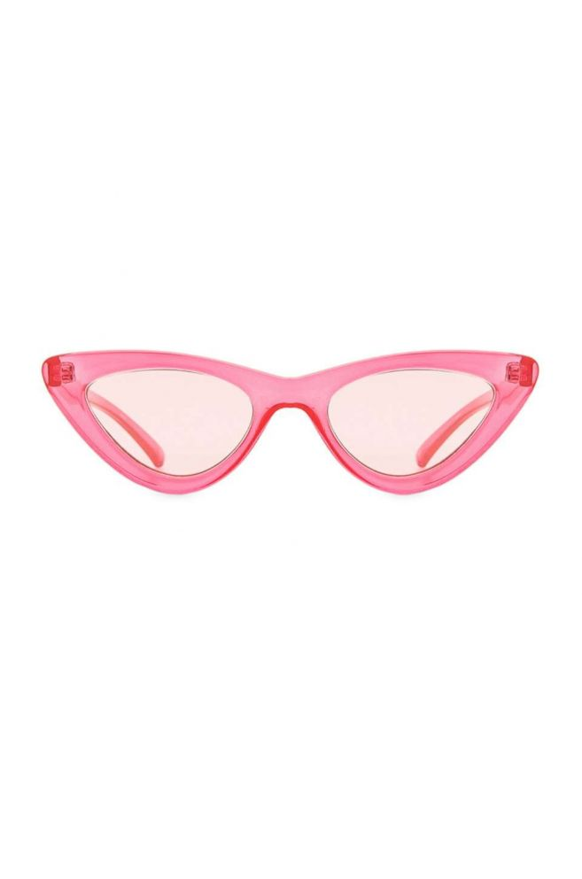 PHOTO: Style Hint: Did you know that pink is the most flattering color? These trendy Lolita glasses add a soft warmth to your face thats universally appealing--plus the pink lenses make everything look rosy.