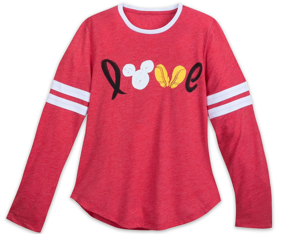 PHOTO: Mickey Mouse Long Sleeve Love Shirt for Women