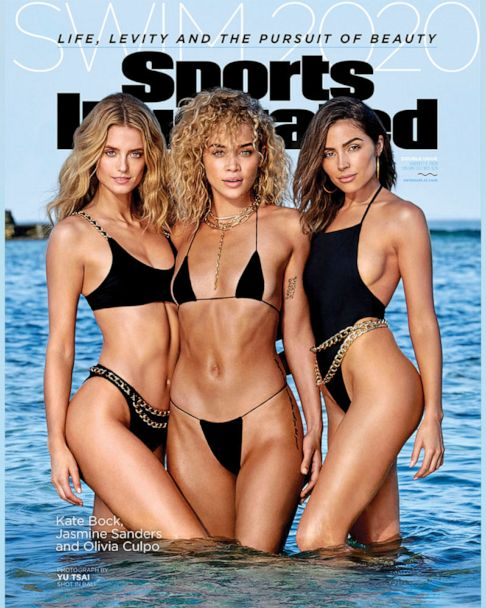 Sports Illustrated 2020 Swimsuit Issue Reveals Cover Starring Kate Bock Olivia Culpo And Jasmine Sanders Gma