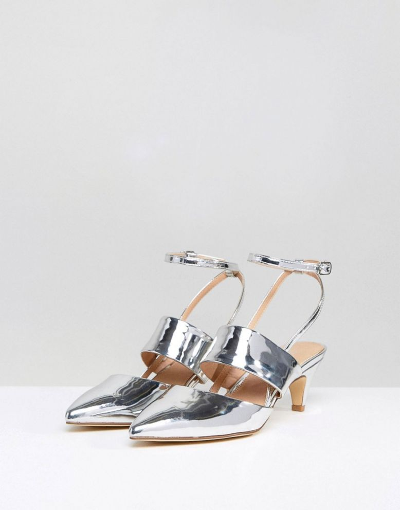 b2f6089e3c3 PHOTO  These silver kitten heels are perfect for work or for play. ASOS