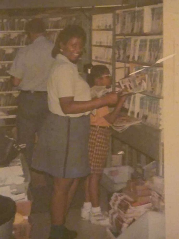 PHOTO: Stephanie Hayes-Bostic with her daughter Janei during her first years at work at the post office.