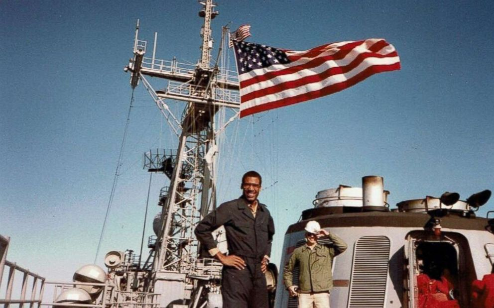PHOTO: Skinner graduated from the United States Naval Academy in 1984. He served aboard the USS Reuben James FFG-57.