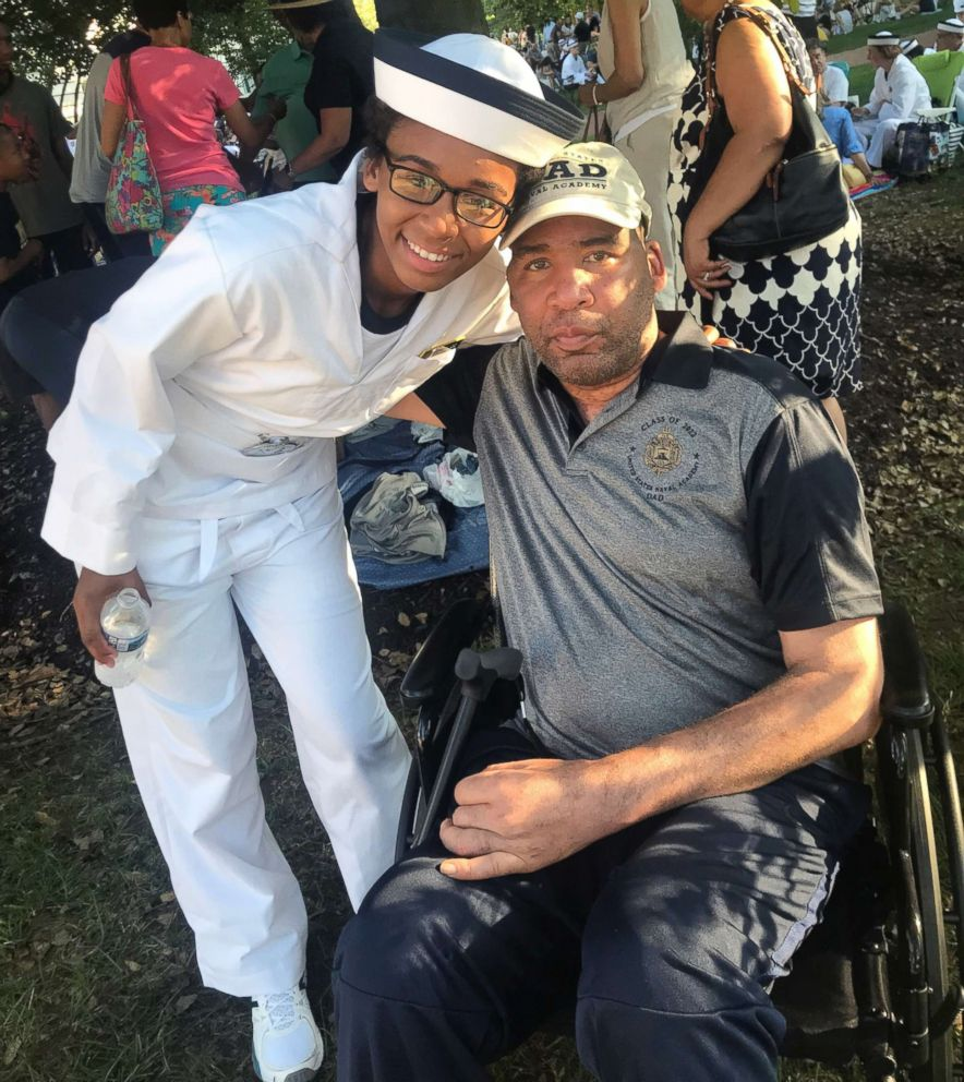 PHOTO: Steven Skinner poses with his 18-year-old daughter, Sarah, who is a student at the United States Naval Academy.