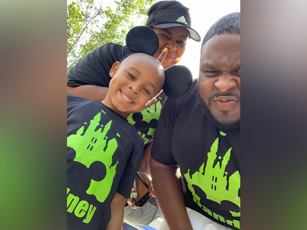 PHOTO: Rodney Small, 4, is seen at Walt Disney World in Florida, with his dad, Darryl Small of Houston, Texas, and his grandmother, Synithia Jacquet.