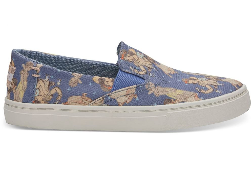 PHOTO: Disney and TOMS have released youth Snow White shoes too.