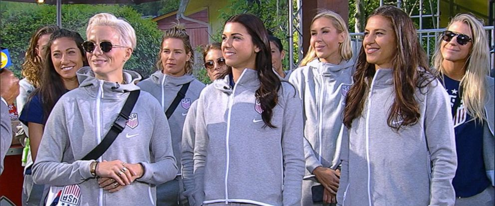 """PHOTO: The U.S. Womens National Soccer Team stopped by """"GMA"""" on May 24, 2019, as they get set to head off to the 2019 FIFA World Cup in France."""