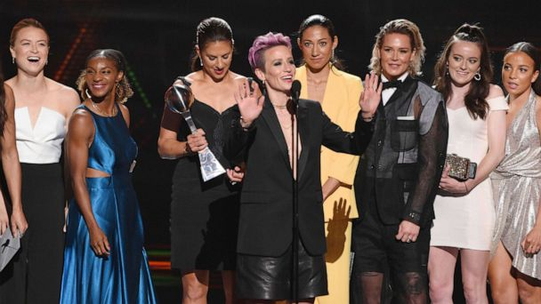 ESPYS 2019: US Women's National Team win big with equal pay message of the night