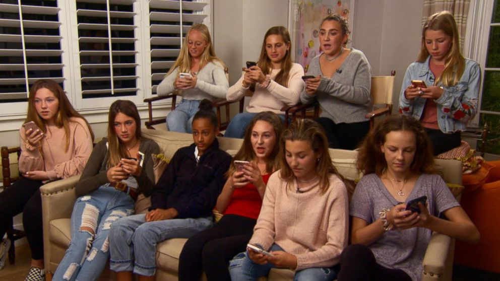 A group of teenage girls from Northern California delete social media apps from their phones as part of a social media detox.