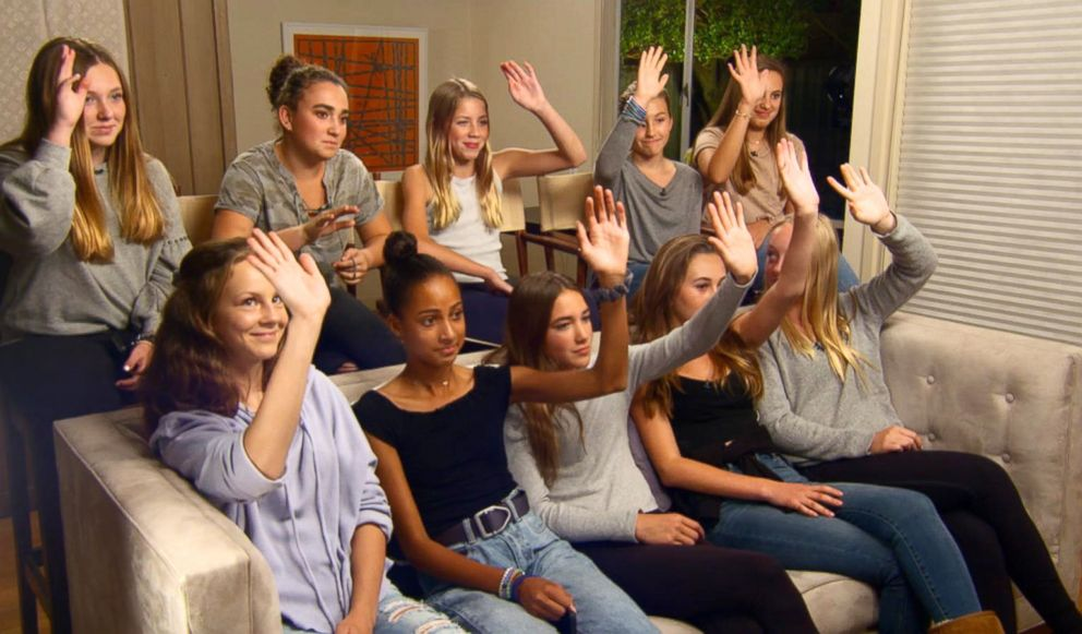 PHOTO: 13 and 14-year-old girls in Northern California respond to a question from ABC News Becky Worley as they prepare for a social media detox.