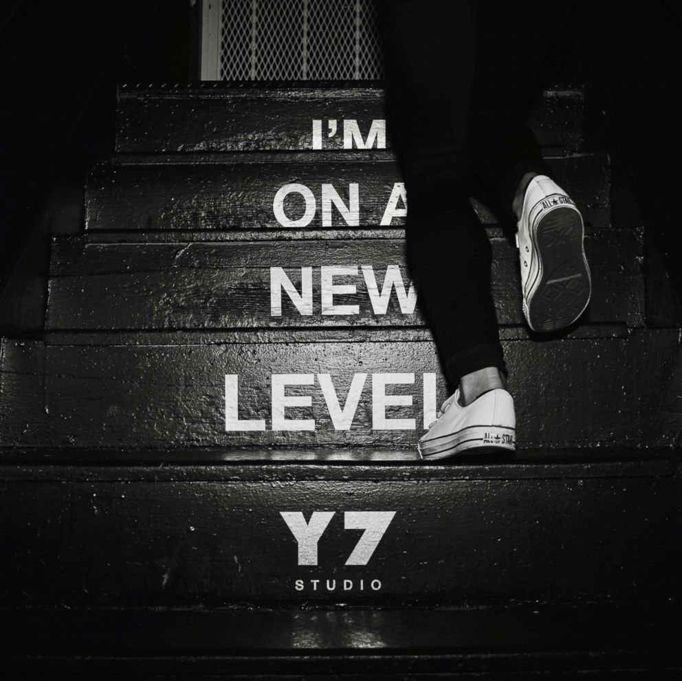 PHOTO: Stairs are pictured in Y7 Studio in the SOHO neighborhood of New York City.