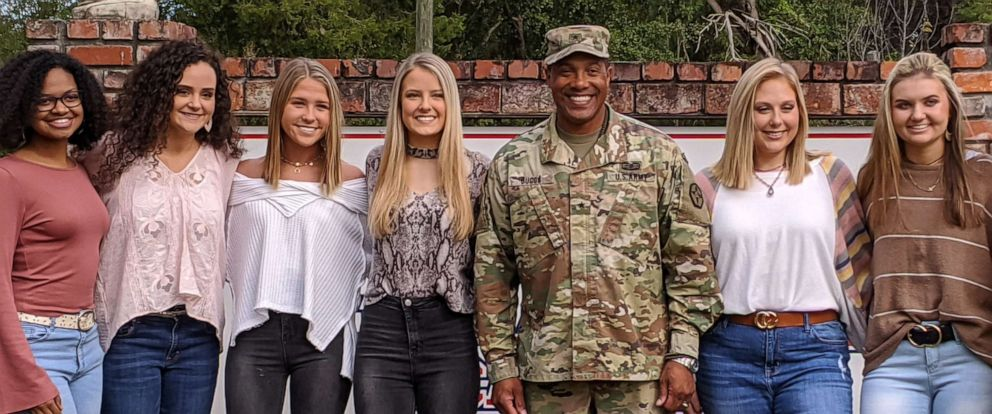 PHOTO: Gen. Vincent Buggs poses with members of the senior class at David Emanuel Academy in Stillmore, Georgia.