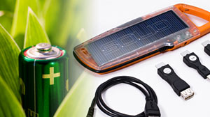 Photo: Just One Thing: Green Your Chargers: You can help the environment by using solar energy to charge your batteries.