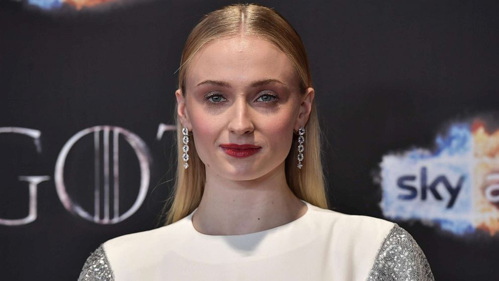 "Sophie Turner attends the ""Game of Thrones"" Season 8 screening at the Waterfront Hall, April 12, 2019, in Belfast, Northern Ireland."