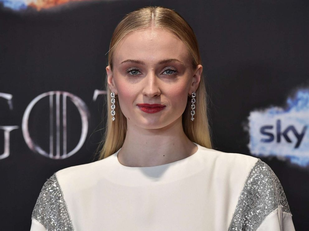 PHOTO: Sophie Turner attends the Game of Thrones Season 8 screening at the Waterfront Hall, April 12, 2019, in Belfast, Northern Ireland.